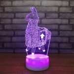 3D Alpaca Pattern 2 Power Supply Color Change Night Light