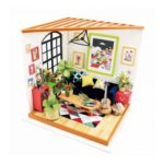 3D DIY Miniature Furniture Wooden Dollhouse Craft Toy Decor