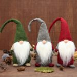 3PCs Long Beard Tall Hat Dwarf Christmas Santa Claus Ornament Toy