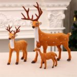 3PCs Vivid Felt Cervus Nippon Deer Sika Deer Christmas Decor Ornaments
