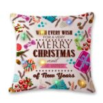 45 x 45 cm Christmas Style Cushion Cover Pillowcase with LED Light