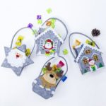 4PCs Christmas Candy Bags Gift Bags Christmas Decoration