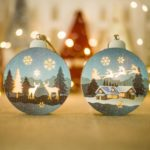 6PCs Christmas Tree Pendant Ornament Decorative Lights Wooden Christmas Decorations