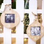6PCs Christmas Wooden Photo Frames Pendant Tree Hanging Ornaments