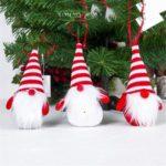 6PCs Cute Santa Claus Toy Christmas Pendant Ornament