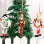 6pcs Santa Claus / Snowman / Elk Bells Christmas Tree Hanging Pendant Ornaments