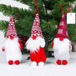 6PCs Christmas Gnome Swedish Santa Tomte Hanging Tree Pendants Ornaments