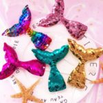 7pcs Shiny Sequin Mermaid Tail Cake / Cupcake Picks Toppers