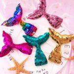 7pcs Shiny Sequin Mermaid Tail Cake / Cupcake Picks Toppers