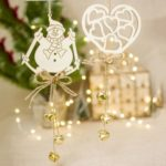 8pcs Christmas Hanging Bell Ornaments Decors