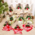 9Pcs/Pack Berry Pine Cone Detail Hanging Ornaments Christmas Decoration