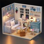 Adorable DIY Handcraft Miniature Dollhouse Kit with LED Light
