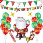 Christmas Decoration Santa Claus Aluminum Coating Balloon Set