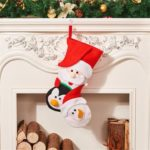 Christmas Hanging Stockings Snowman Santa Claus Elk Socks Party Supply Candy Gift Bag