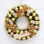 40cm Christmas Wreath Ball Star Flowers Decorated Hanging Ornament