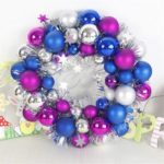 40cm Christmas Wreath Shatterproof Ball Ornament Wall Door Hanging Decor
