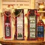 Creative 3pcs Burlap Christmas Wine Bottle Cover Bag