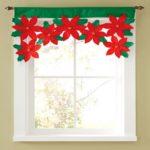 Creative Christmas Style Window Valance Cloth Flower Decoration Curtain