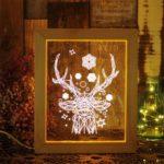 Creative Decorative Photo Frame LED Night Light Christmas Gift