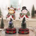 1PC Waterless Christmas Tree Snow Globe with Lights – Santa Claus / Snowman / Elk