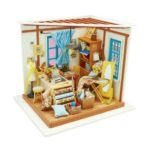 Cute DIY 3D Tailor's Shop Mini Dollhouse Assemble Miniature Doll House