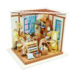 Cute DIY 3D Tailor's Shop Mini Dollhouse Assemble Miniature Doll House