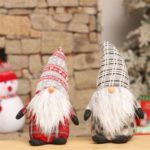 Cute Long Beard Forester Design Plush Toy Christmas Decoration