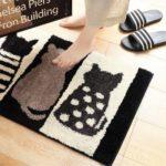 Cute Pattern Water Absorption Bathroom Mat Non-slip Home Decor Soft Doormat