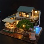 CUTE ROOM London Holiday 3D DIY Assembly Wooden Dollhouse for Girls