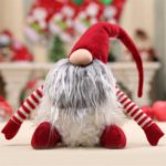 Faux Fur Plush Swedish Santa Claus Long Beard Christmas Gnome for Decoration