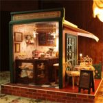 Cuteroom DIY Dollhouse Handcraft Miniature The Star Coffee Bar Music Wooden Doll House