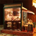Cuteroom DIY Dollhouse Handcraft Miniature The Star Coffee Bar Music Wooden Doll House