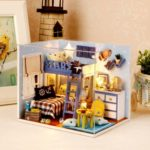 Cuteroom DIY Dollhouse Kit Starry Sky Adventure Stand Joint Model