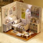 Cuteroom DIY Wooden Doll House Kit 3D Miniature Dollhouse Educational Toys
