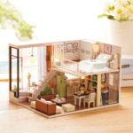 CUTEROOM Lovely DIY Wooden Doll House Handmade Toys Gifts With Furniture