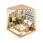 DIY Miniature Bedroom Wooden Dollhouse with Furniture Handmade Model Kit
