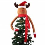 Reindeer Elk Christmas Tree Topper for Decoration – 38cm