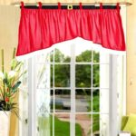 Irregular Velvety Red Christmas Curtain for Door / Window