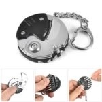 Multifunctional Foldable Metal Coin Knife with Keychain & Bits