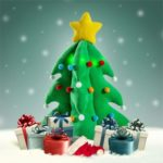 33cm Mini Plush Christmas Tree Toy with Colorful Lights and Christmas Music