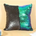 Reversible Sequins Throw Pillow Case Cushion Cover Home Sofa Decoration