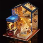 Romantic DIY Mini House Musical Dollhouse Assemble Doll House Toy with Light