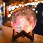 Romantic Rechargeable 3D Lunar Light 16-Color Remote Control Moon Lamp