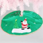 30-inch Santa Claus Green Christmas Tree Skirt Ornament Christmas Decor