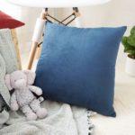 Simple Design Solid Color Velvet Cushion Cover Soft Pillowcase – 45 x 45 cm