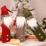 Swedish Santa Claus Christmas Gnome Red Wine Bottle Cover Bag