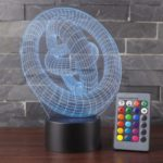 3D Visual Illusion Lamp LED Night Light with 7 Color Changing