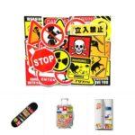 50PCs Warning Stickers Doodling Sticker Mixture Sticker