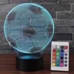 7 Color 3D Visual Illusion Lamp Touch Control Acrylic Night Light with Remote