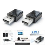 Mini Bluetooth 5.0 Audio Receiver Transmitter 3.5mm Aux Stereo Wireless Adapter 2 PCs Set